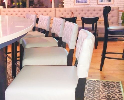 custom commercial bar stools