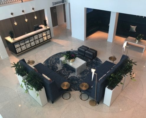 hotel lobby custom furniture design